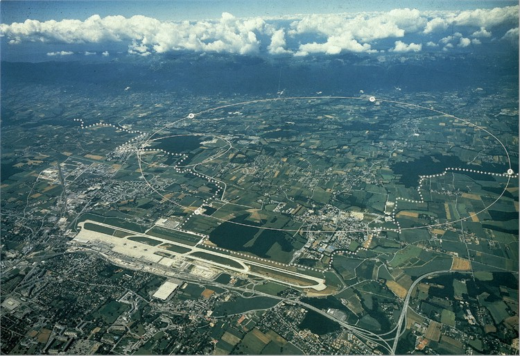 Aerial view of CERN and surroundings
